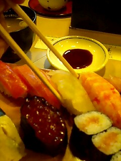 寿司屋さんにて…
